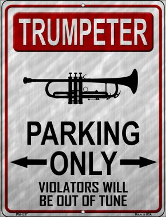 Trumpeter Parking Wholesale Novelty Mini Metal Parking Sign PM-1217