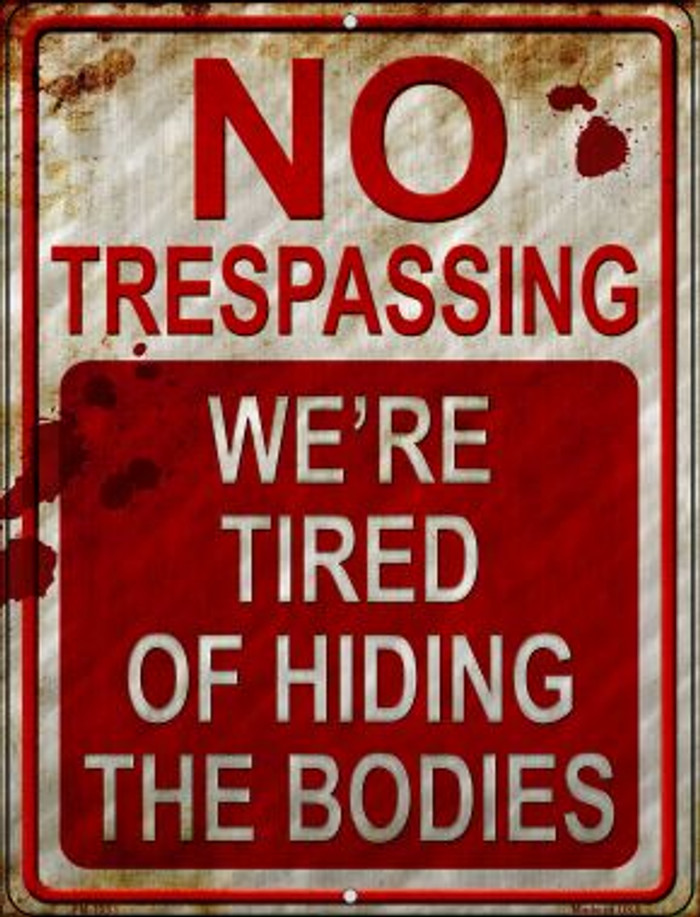 No Trespassing Wholesale Novelty Mini Metal Parking Sign PM-1233