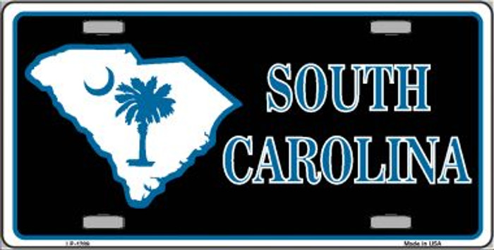 South Carolina Flag Novelty Wholesale Metal License Plate LP-1289