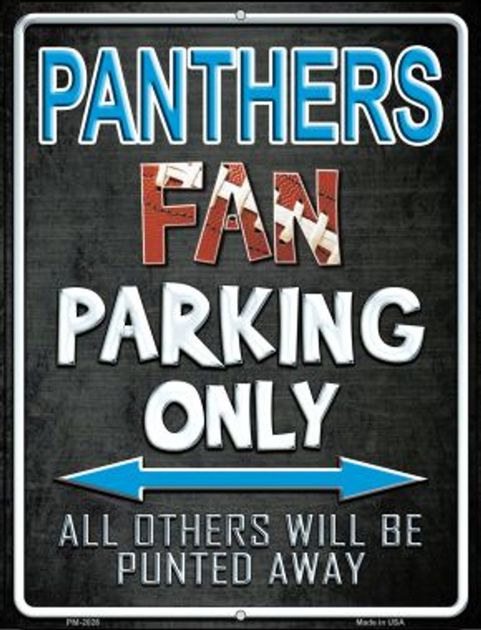 Panthers Wholesale Novelty Mini Metal Parking Sign PM-2028