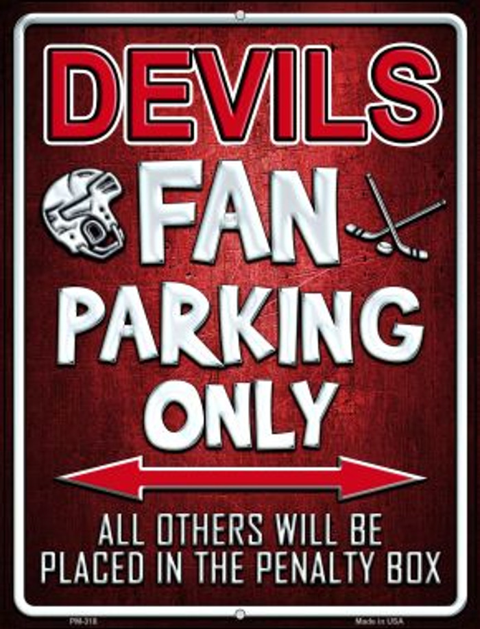 Devils Wholesale Novelty Mini Metal Parking Sign PM-318