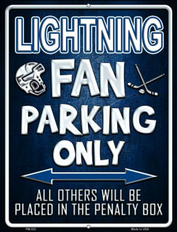 Lightning Wholesale Novelty Mini Metal Parking Sign PM-322