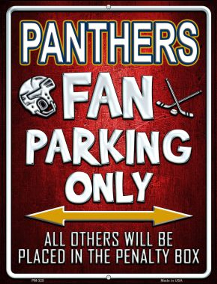 Panthers Wholesale Novelty Mini Metal Parking Sign PM-325