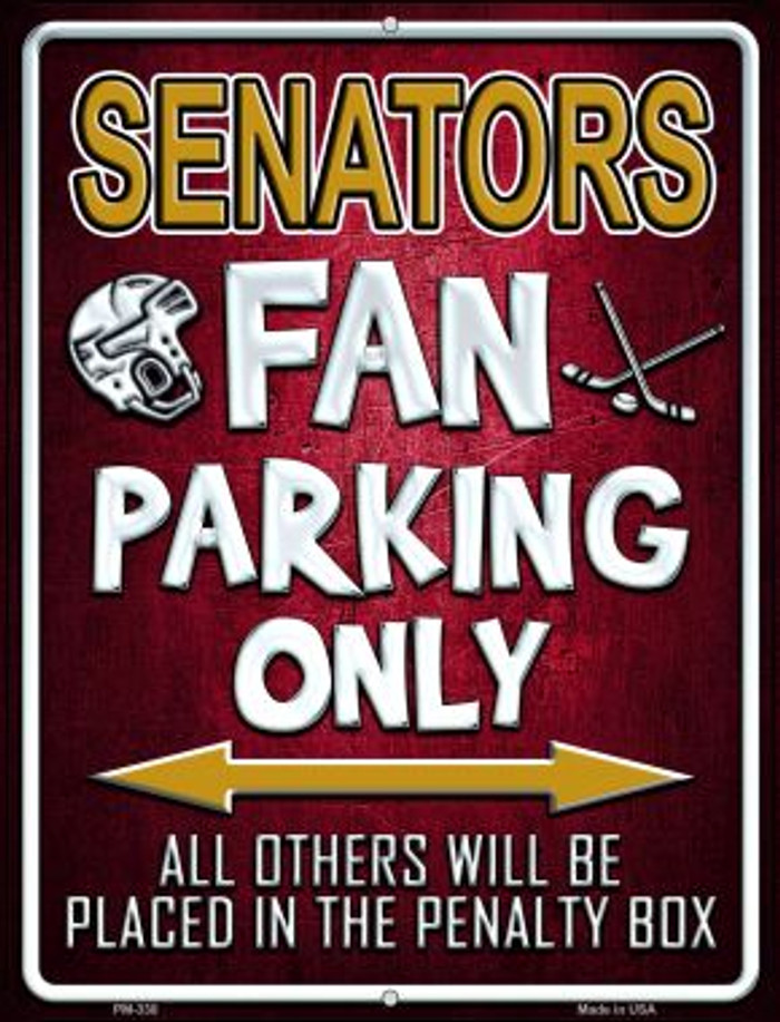 Senators Wholesale Novelty Mini Metal Parking Sign PM-330