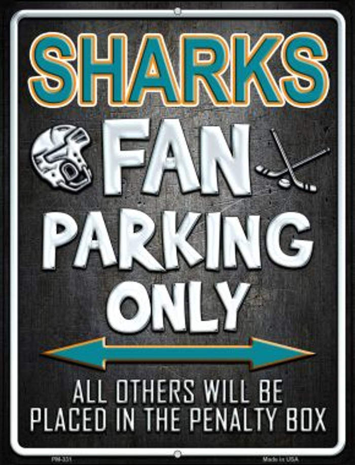 Sharks Wholesale Novelty Mini Metal Parking Sign PM-331