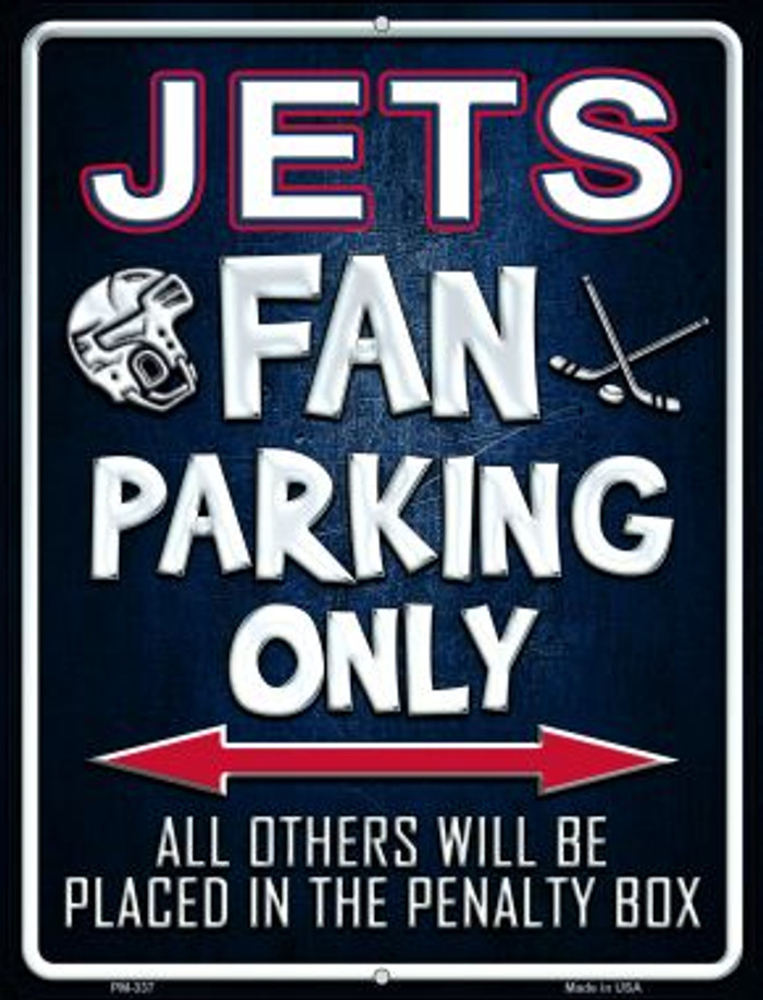 Jets Wholesale Novelty Mini Metal Parking Sign PM-337
