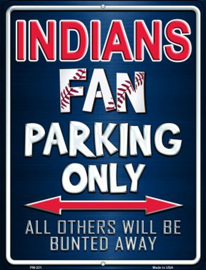 Indians Wholesale Novelty Mini Metal Parking Sign PM-221