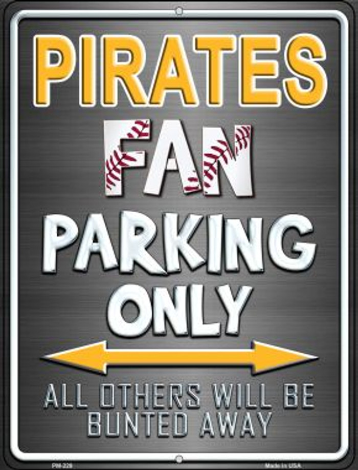 Pirates Wholesale Novelty Mini Metal Parking Sign PM-229