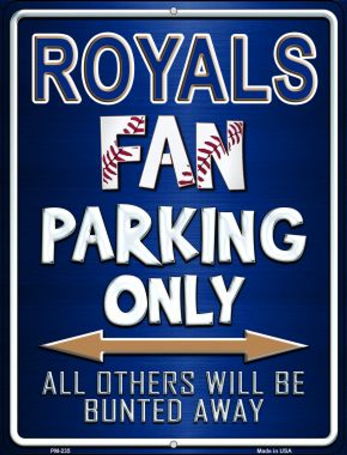 Royals Wholesale Novelty Mini Metal Parking Sign PM-235