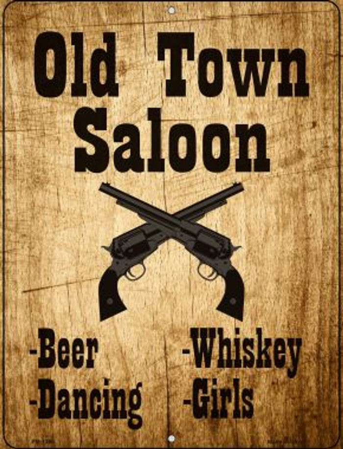 Old Town Saloon Wholesale Novelty Mini Metal Parking Sign PM-1396