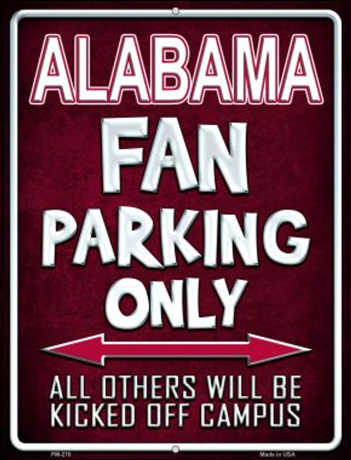 Alabama Wholesale Novelty Mini Metal Parking Sign PM-270