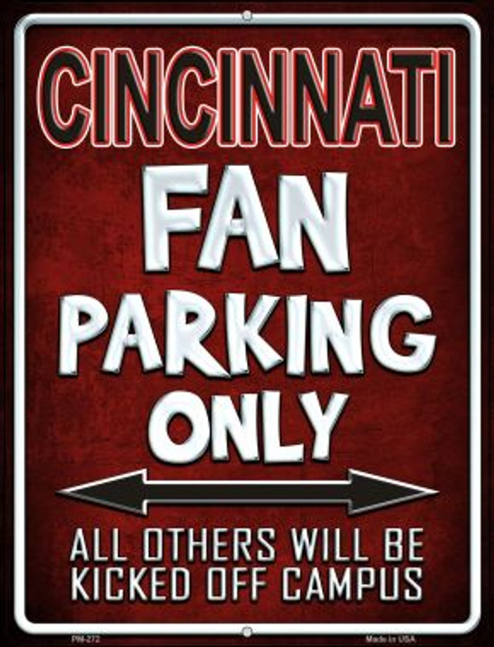 Cincinnati Wholesale Novelty Mini Metal Parking Sign PM-272