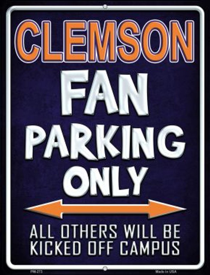 Clemson Wholesale Novelty Mini Metal Parking Sign PM-273