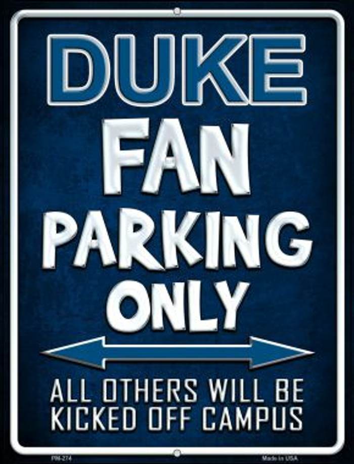 Duke Wholesale Novelty Mini Metal Parking Sign PM-274