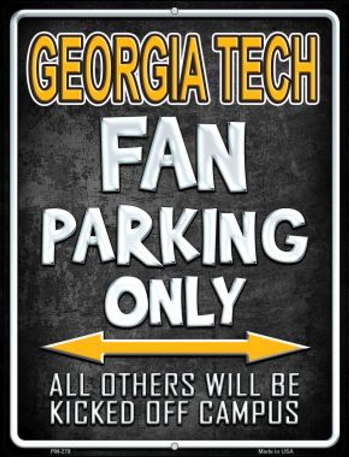Georgia Tech Wholesale Novelty Mini Metal Parking Sign PM-278