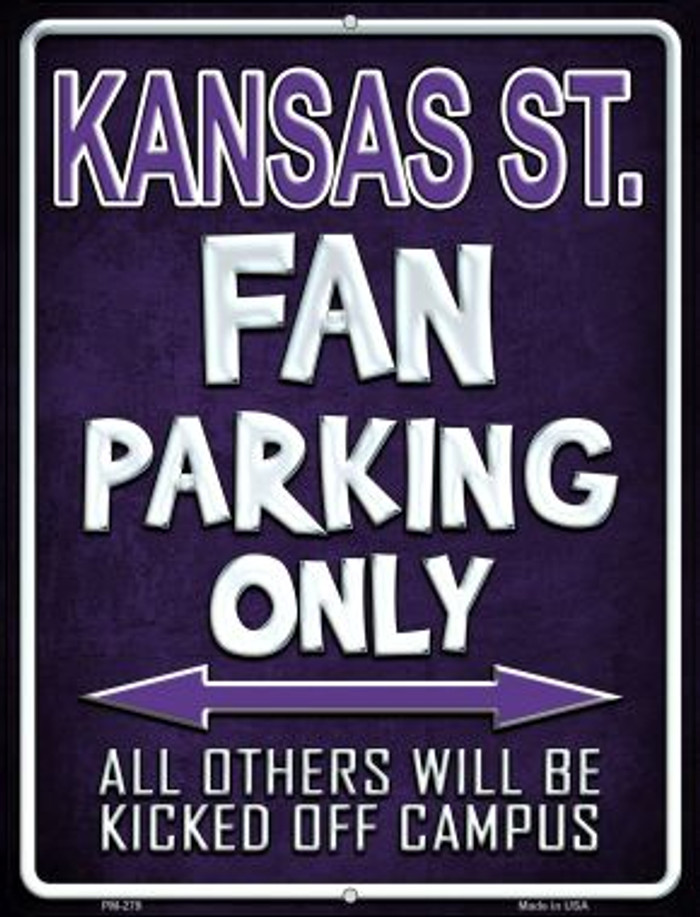 Kansas State Wholesale Novelty Mini Metal Parking Sign PM-279