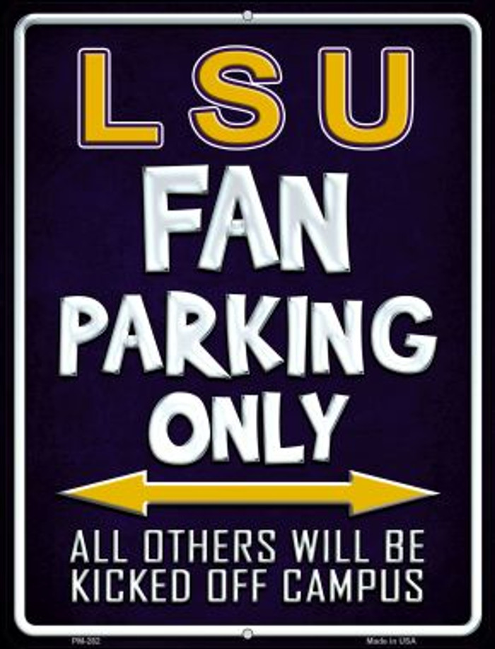 LSU Wholesale Novelty Mini Metal Parking Sign PM-282