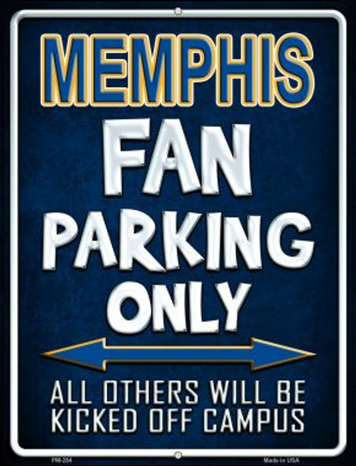 Memphis Wholesale Novelty Mini Metal Parking Sign PM-284