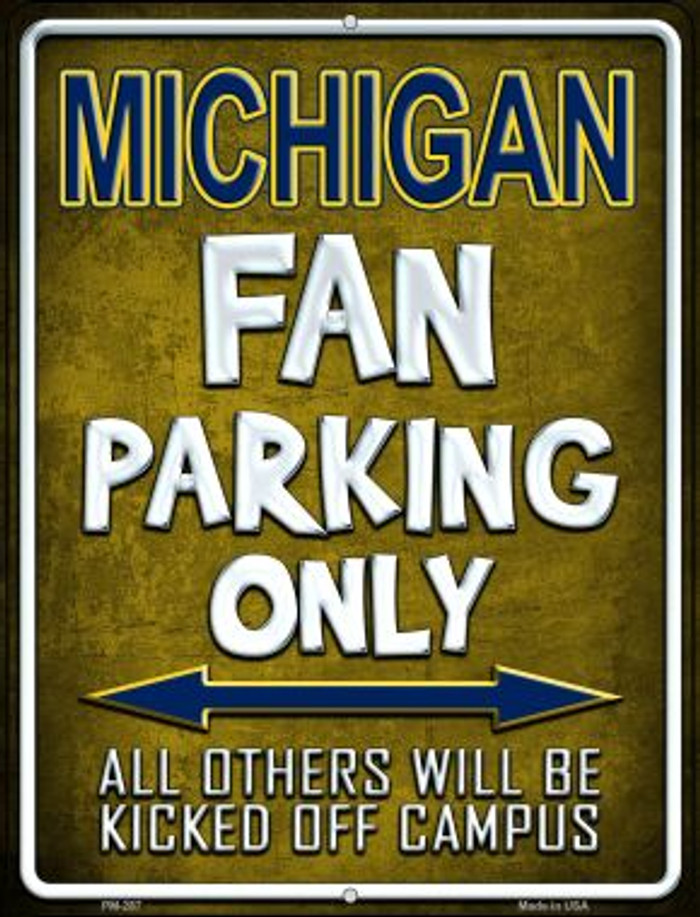 Michigan Wholesale Novelty Mini Metal Parking Sign PM-287