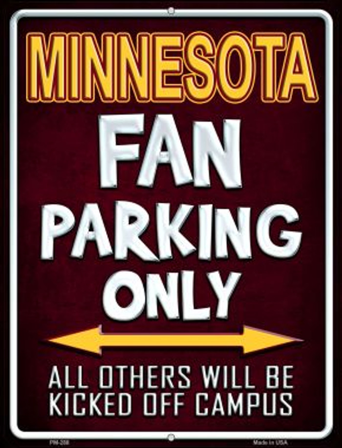 Minnesota Wholesale Novelty Mini Metal Parking Sign PM-288