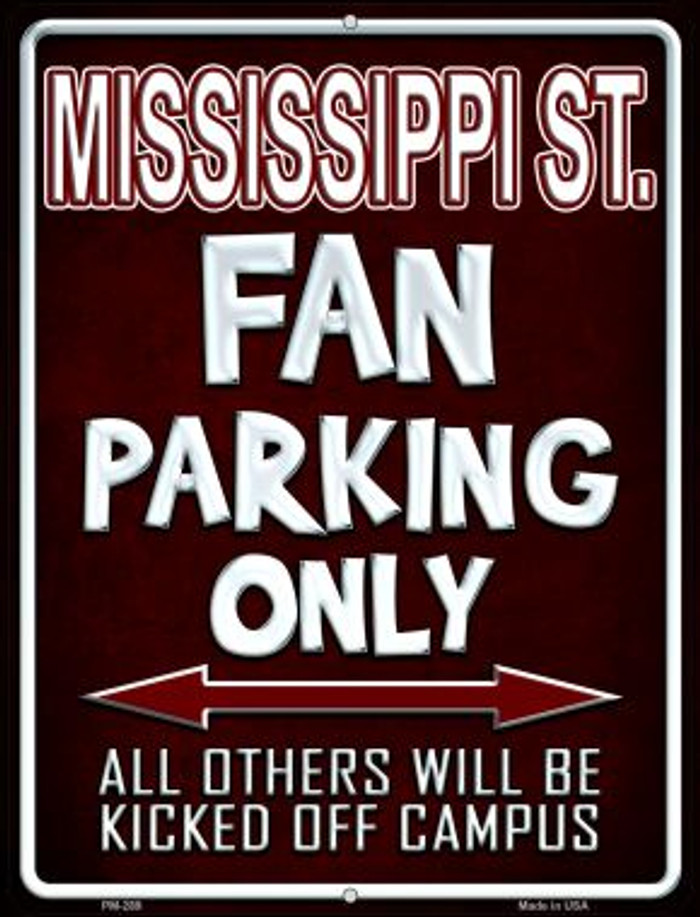 Mississippi State Wholesale Novelty Mini Metal Parking Sign PM-289