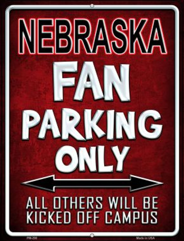 Nebraska Wholesale Novelty Mini Metal Parking Sign PM-290