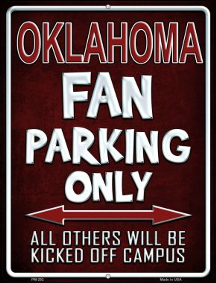 Oklahoma Wholesale Novelty Mini Metal Parking Sign PM-292