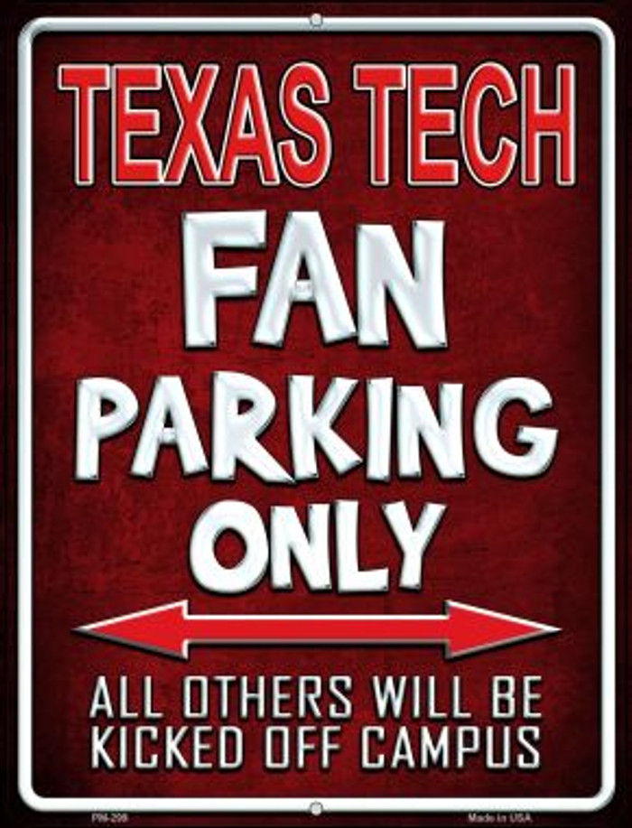 Texas Tech Wholesale Novelty Mini Metal Parking Sign PM-299