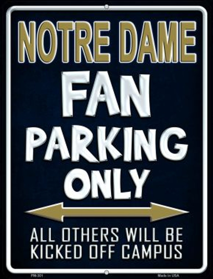 Notre Dame Wholesale Novelty Mini Metal Parking Sign PM-301