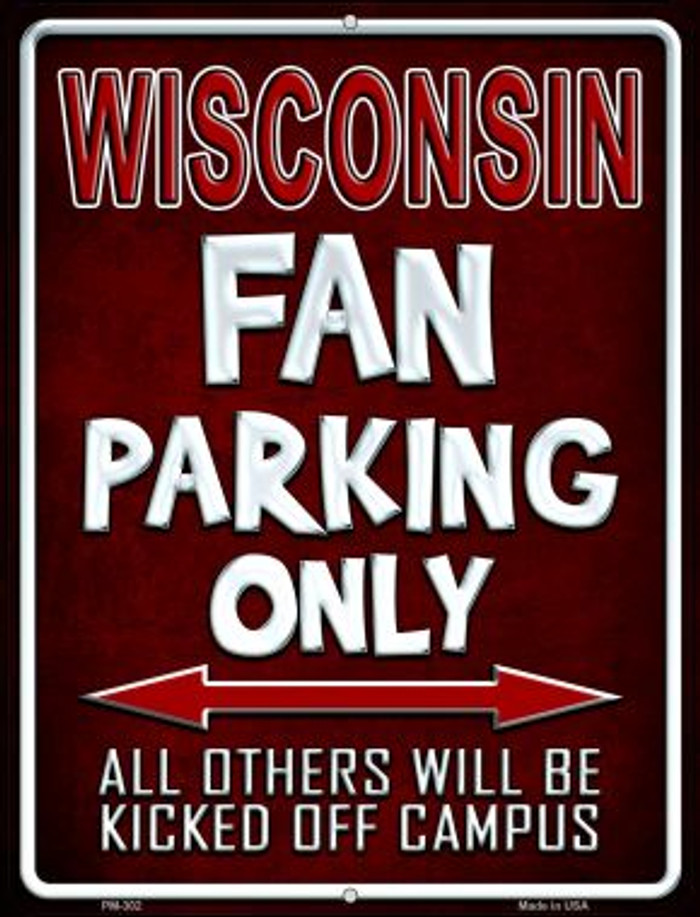 Wisconsin Wholesale Novelty Mini Metal Parking Sign PM-302