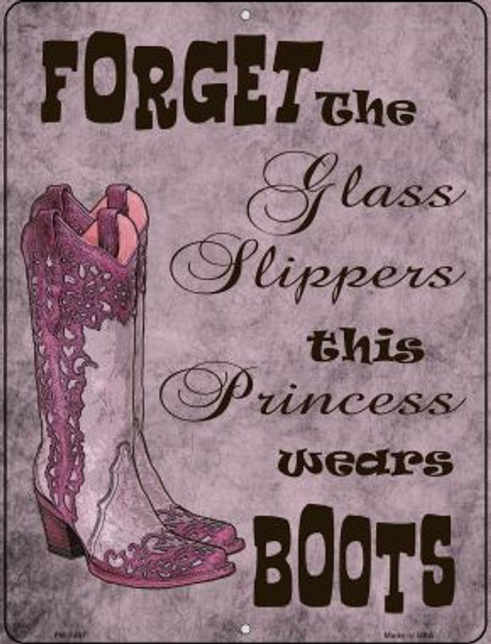 Forget Glass Slippers Wholesale Novelty Mini Metal Parking Sign PM-1457