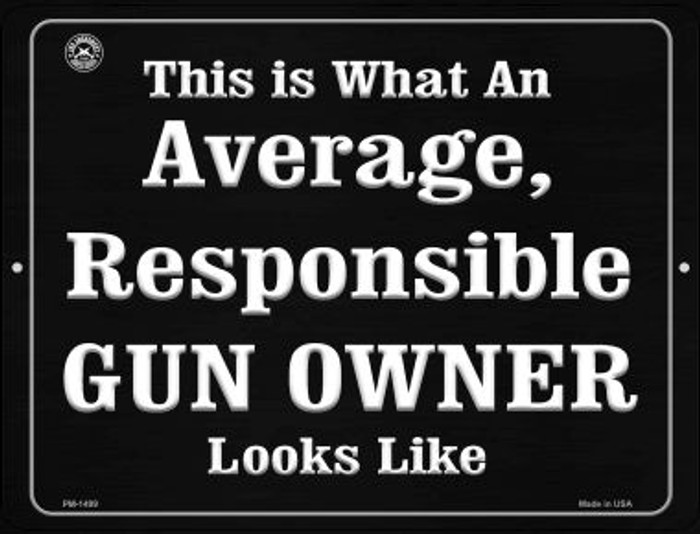 Gun Owner Wholesale Novelty Mini Metal Parking Sign PM-1499