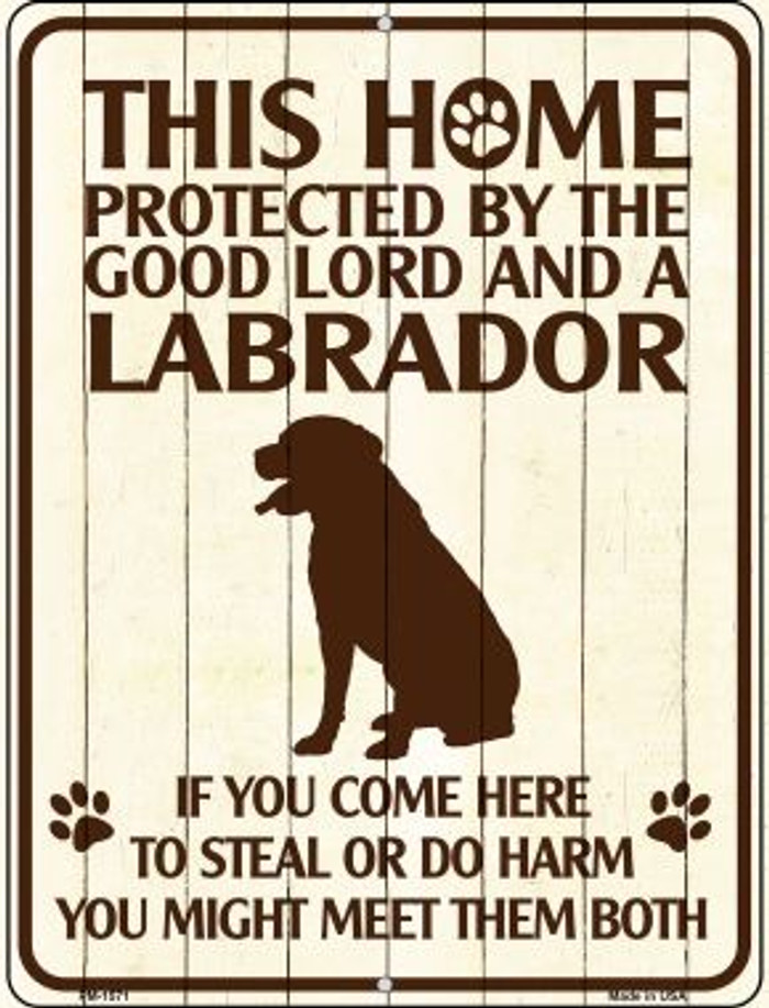 Labrador Protected Wholesale Novelty Mini Metal Parking Sign PM-1571