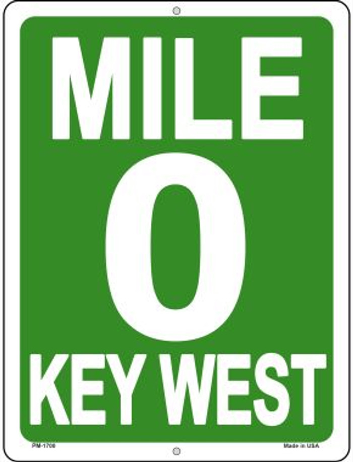 Mile Zero Key West Wholesale Novelty Mini Metal Parking Sign PM-1700
