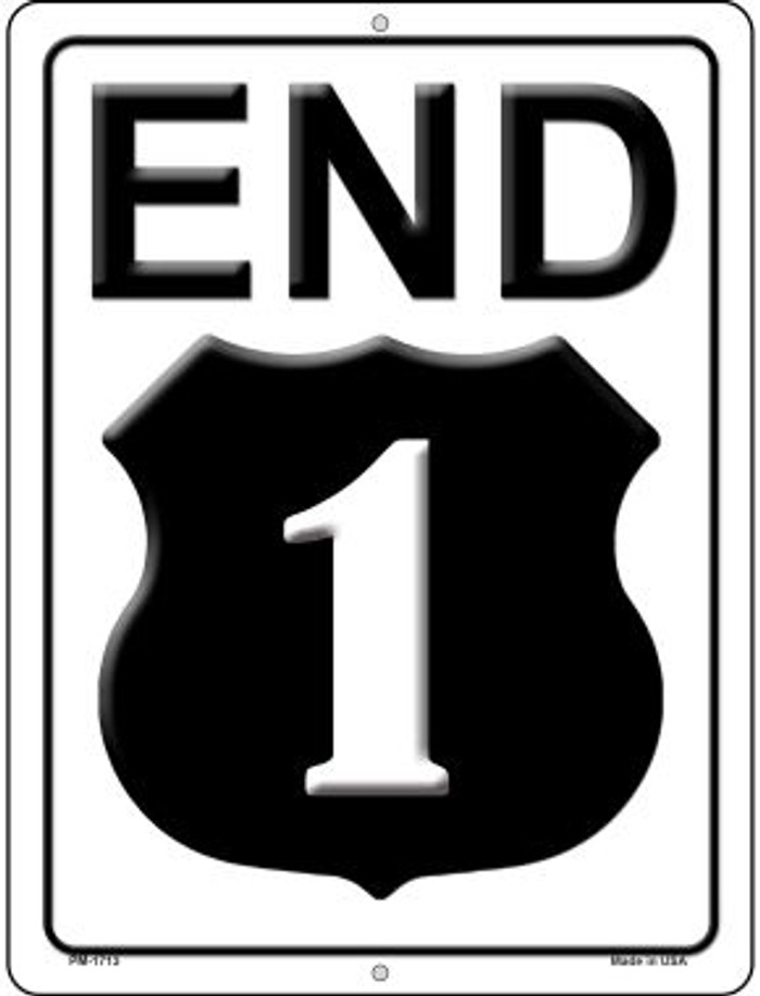 End Highway 1 Wholesale Novelty Mini Metal Parking Sign PM-1713