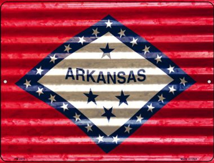 Arkansas Flag Wholesale Novelty Mini Metal Parking Sign PM-2318