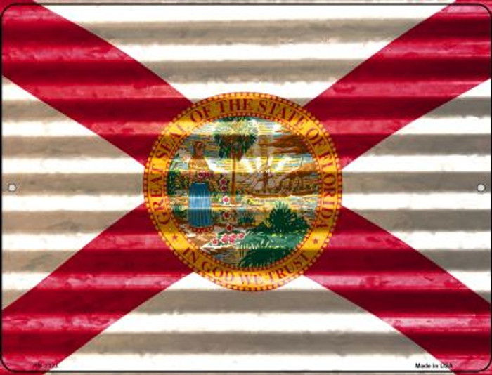 Florida Flag Wholesale Novelty Mini Metal Parking Sign PM-2323