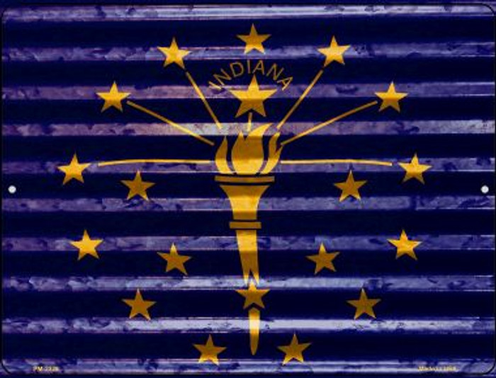 Indiana Flag Wholesale Novelty Mini Metal Parking Sign PM-2328