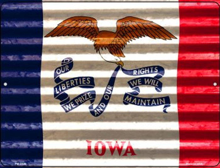 Iowa Flag Wholesale Novelty Mini Metal Parking Sign PM-2329