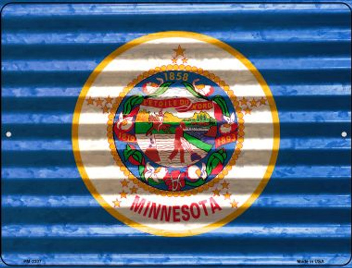 Minnesota Flag Wholesale Novelty Mini Metal Parking Sign PM-2337