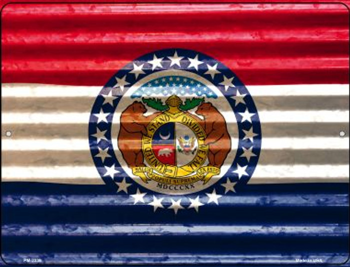 Missouri Flag Wholesale Novelty Mini Metal Parking Sign PM-2339