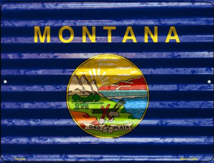 Montana Flag Wholesale Novelty Mini Metal Parking Sign PM-2340