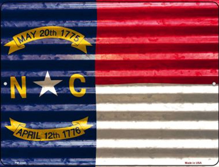 North Carolina Flag Wholesale Novelty Mini Metal Parking Sign PM-2347