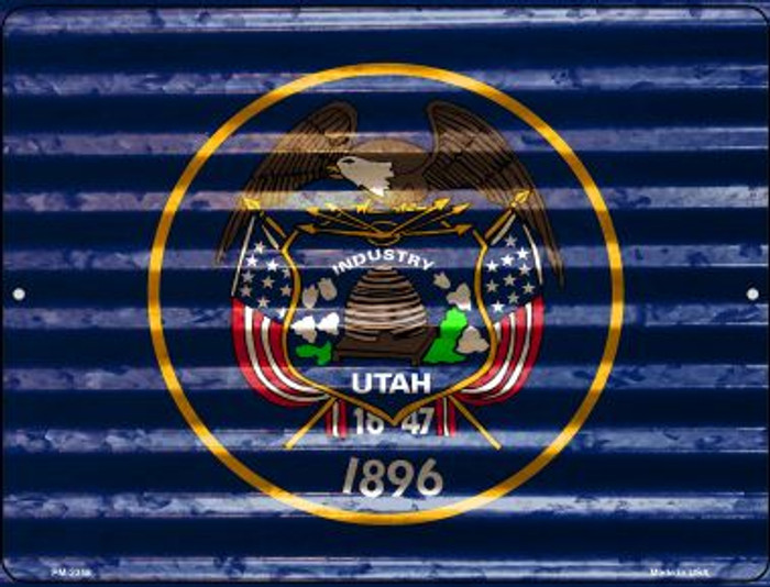 Utah Flag Wholesale Novelty Mini Metal Parking Sign PM-2358