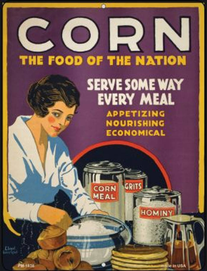 Corn Food of the Nation Wholesale Novelty Mini Metal Parking Sign PM-1838