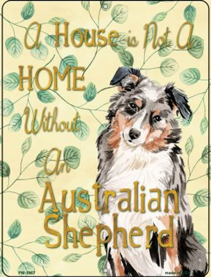 Australian Shepherd Wholesale Novelty Mini Metal Parking Sign PM-1967