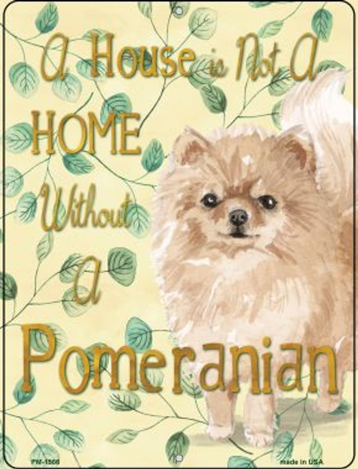 Pomeranian Wholesale Novelty Mini Metal Parking Sign PM-1986