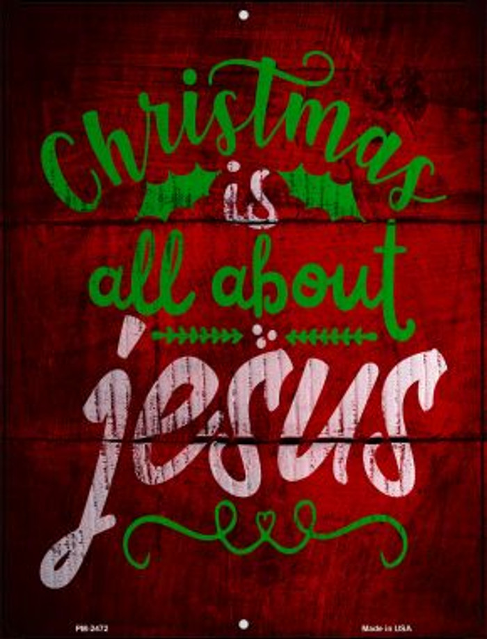 All About Jesus Wholesale Novelty Mini Metal Parking Sign PM-2472