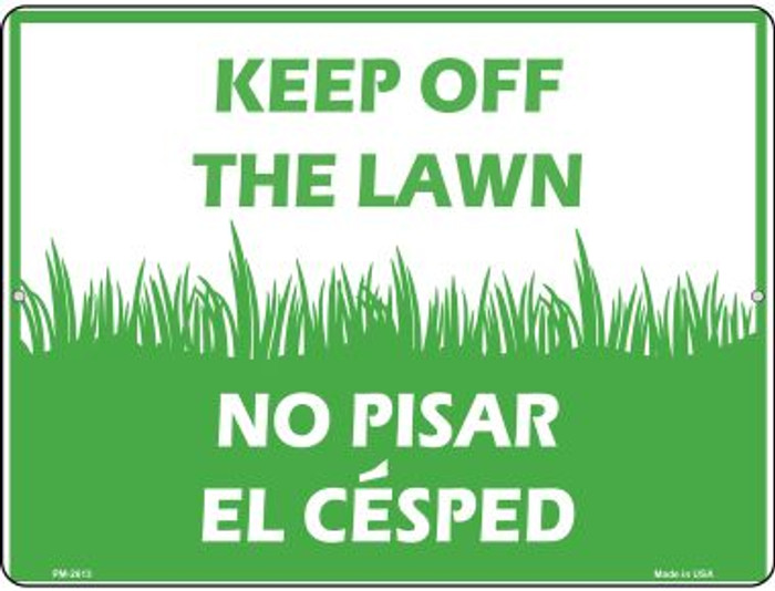 Keep Off The Lawn Wholesale Novelty Mini Metal Parking Sign PM-2613