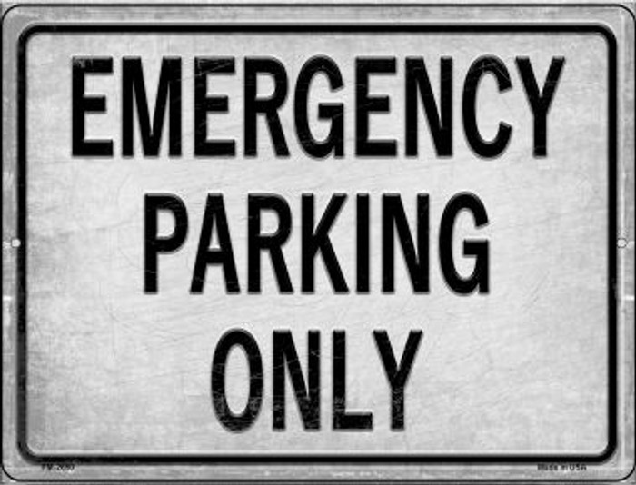 Emergency Parking Only Wholesale Novelty Mini Metal Parking Sign PM-2650